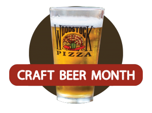 May is Craft Beer Month at Woodstock's Pizza, PLUS we're introducing a new style of wings with an improved cooking for a better texture on all wings! Look for special events featuring breweries, brew masters, righteous deals, and more!